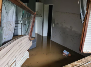 Haus unter Wasser
